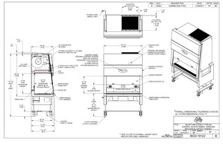 [Drawing] LabGard NU-677-400 Animal Handling Biosafety Cabinet