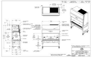 [Drawing] LabGard NU-677-500 Animal Handling Biosafety Cabinet