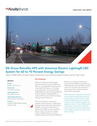 Contempo and Autobahn LED for Elk Grove, CA Retrofit