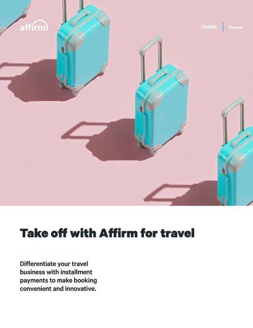 Take off with Affirm for travel