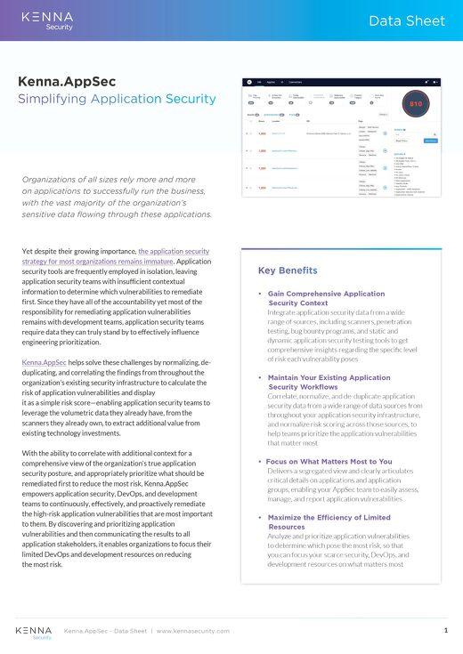 AppSec DataSheet