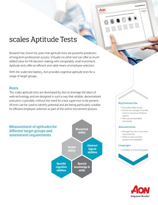 Aptitude Tests Fact Sheet