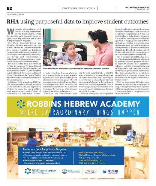 CJN Focus on Education - RHA 2019