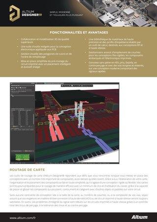 Altium Designer 19 placement - routage ensemble de caractéristiques