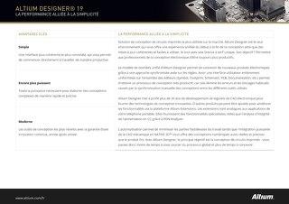 Mise à jour du produit Altium Designer 19