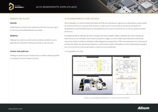 Hoja de datos del producto Altium Designer 19