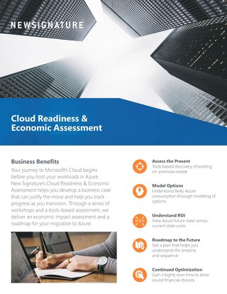 Cloud Readiness & Economic Assessment Flyer 2019