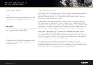 Altium Designer 19 Produktüberblick