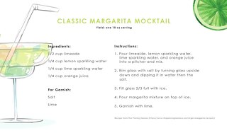 Mocktail Margarita Recipe Cards