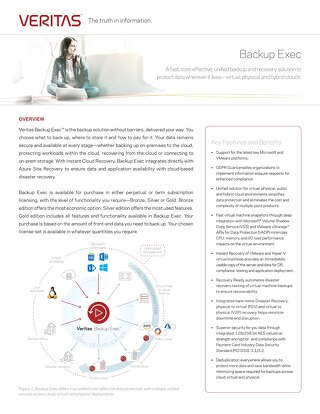 Learn More About Veritas Backup Exec™