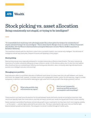 Stock picking vs. asset allocation