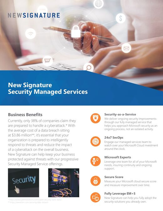 Security Solutions for the Modern Business Flyer 2019