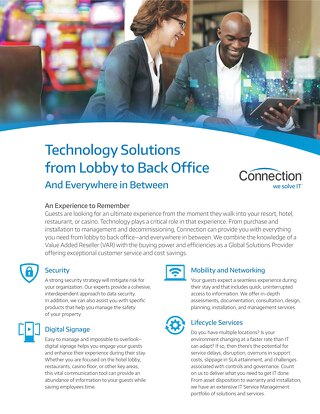 Technology Solutions from Lobby to Back Office And Everywhere in Between
