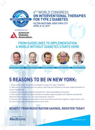 The 4th World Congress on Interventional Therapies For Type 2 Diabetes