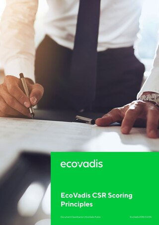 EcoVadis CSR Rating Methodology: Scoring Principles