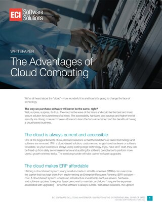 The Advantages of Cloud Computing