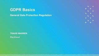 GDPR Basics Presentation