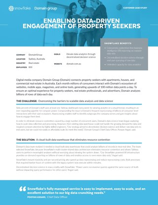 Domain Group: Enabling Data-Driven Engagement of Property Seekers