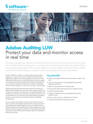 Facts about Adabas Auditing LUW