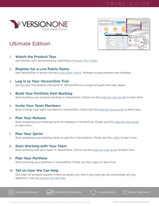 VersionOne Ultimate Edition Trial Guide