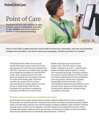 Point of Care (POC) - Solution-Sheet - PointClickCare