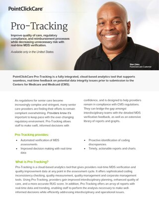 Pro-Tracking - SolutionSheet - PointClickCare