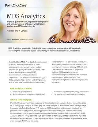 MDS Analytics - SolutionSheet - PointClickCare