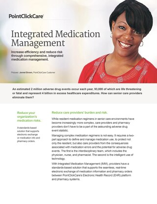 Integrated Medication Management - SolutionSheet - PointClickCare
