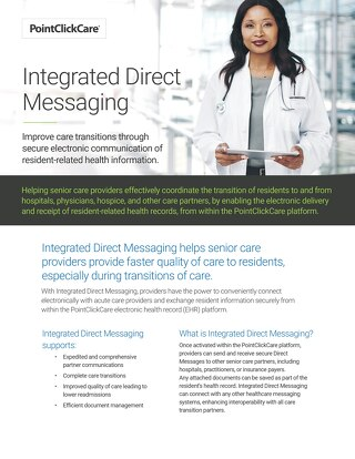 Integrated Direct Messaging - SolutionSheet - PointClickCare