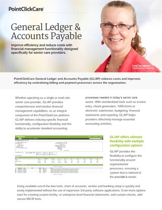 General Ledger & Accounts Payable - Solution Sheet - PointClickCare
