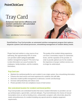 Tray Card - SolutionSheet - PointClickCare