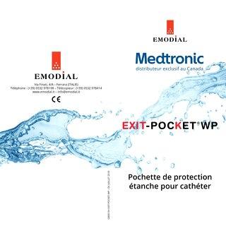 Emodial Exit Pocket WP - Pochette de protection étanche pour cathéter