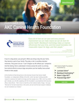 CUSTOMER STORY: American Kennel Club Canine Health Foundation