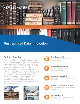 Unstructured Data Innovation Flyer 2019