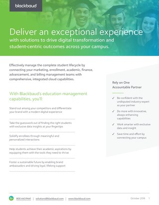 Solution Datasheet: Blackbaud's Education Management Portfolio