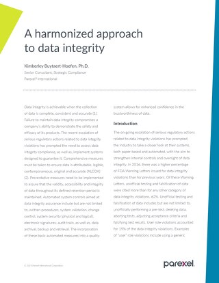 A Harmonized Approach to Data Integrity