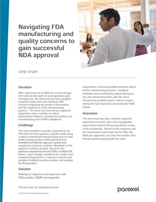 Case Study: How to Navigate FDA Manufacturing Concerns
