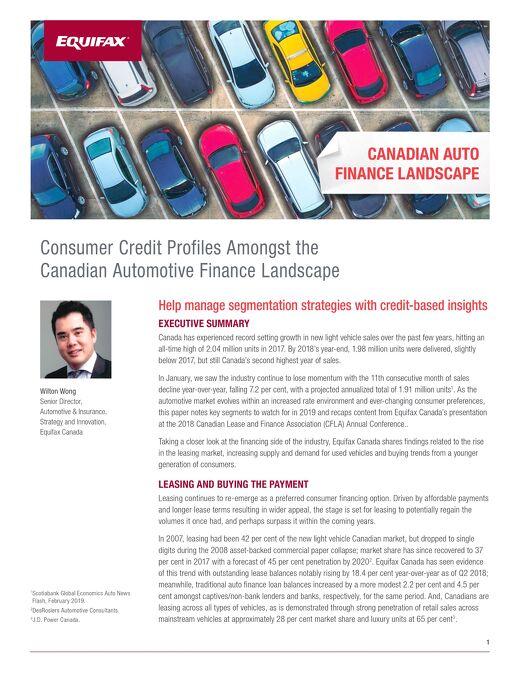 Whitepaper: Canadian Auto Finance Landscape