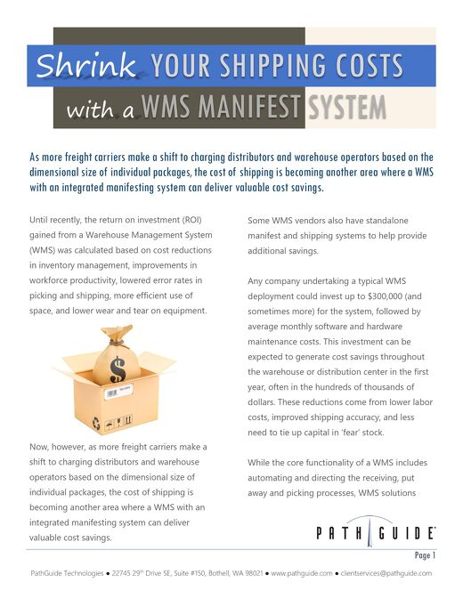Shrink Your Shipping Costs with a WMS Manifest System