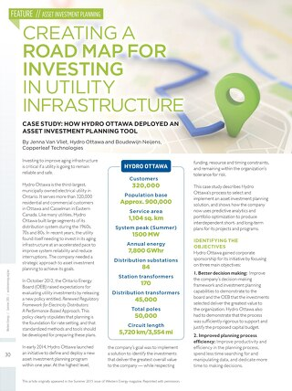 How Hydro Ottawa Deployed An Asset Investment Planning Tool