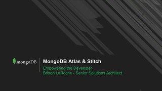 Altas + Stitch Empowering the Developer