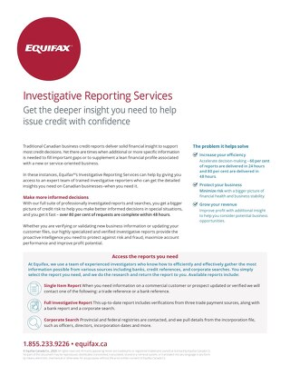 Investigative Reporting Services