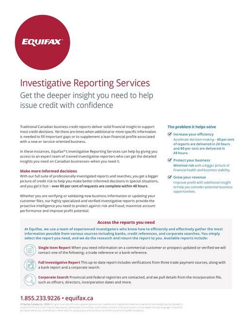 Investigative Reporting Services