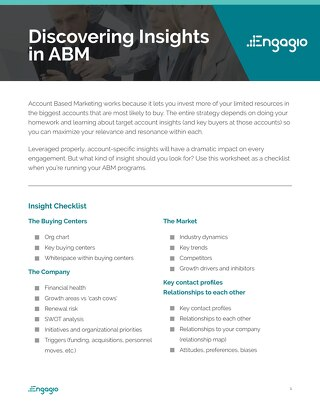 Discovering Insights in ABM Worksheet  |  Engagio