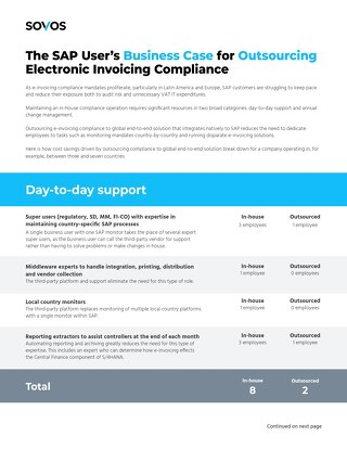 Electronic Invoicing with SAP: In-house vs. Outsourced