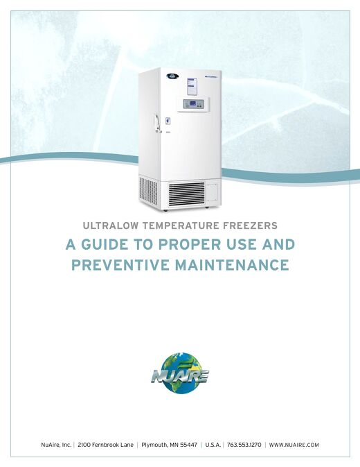 [White Paper] Ultralow Freezer: Proper Use and Preventative Maintenance