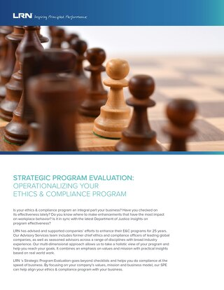 Strategic Program Evaluation