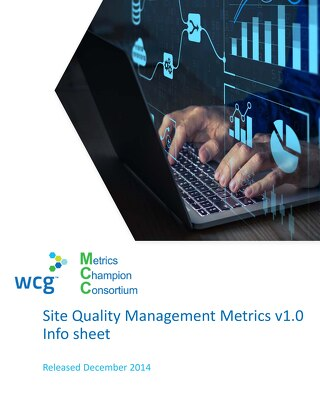 MCC Site Quality Performance Metrics At-A-Glance v1.0