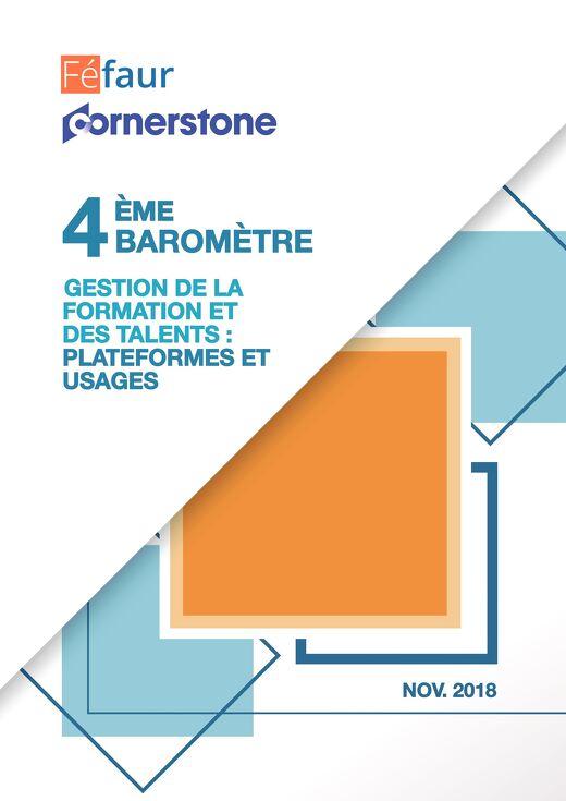 """4ème baromètre """"Gestion de la formation et des talents"""" Féfaur-Cornerstone"""
