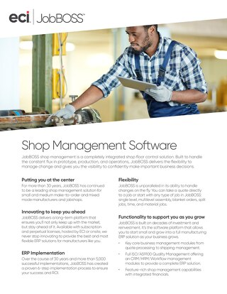 JobBOSS Shop Management Software